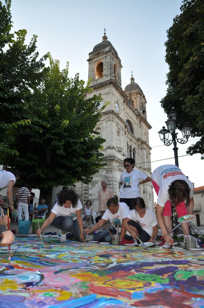 Piazza antistante la Chiesa dei Santi Valentino e Damiano